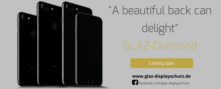 Must have - GLAZ Diamond protects your new iPhone 7 jet black