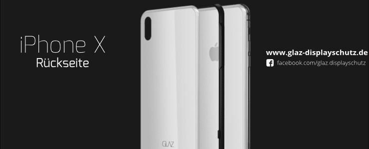 iPhone X backside bulletproof glass