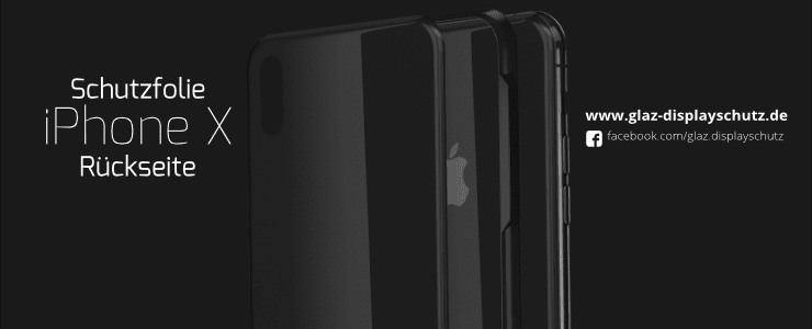 iPhone X rear protective foil