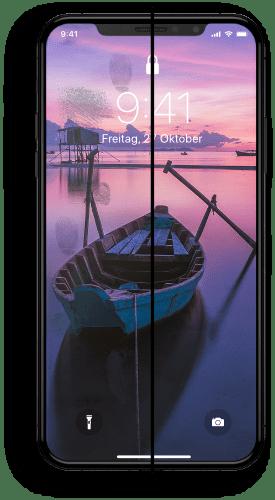 iPhone X Displayschutz Hybrid
